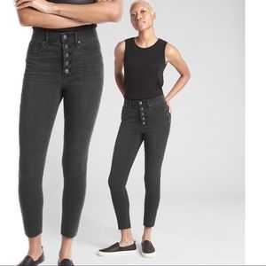 Gap Black High Rise True Skinny Ankle Jeans